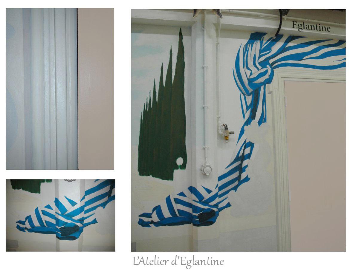 Fresque décorative (Particulier) réalisée par L'Atelier d'Églantine - Été 2020